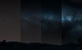 Light pollution, illustration