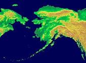 Alaska, GLOBE map