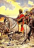 Menelik II of Ethiopia, Battle of Adwa, illustration