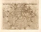 Global maritime map, 1560s
