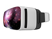 Virtual reality headset in science