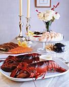A seafood buffet