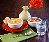 Pumpkin and vegetable soups