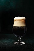 Imported Chocolate Malt Beer in a Glass with Foam