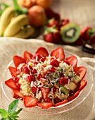Rice salad with fruit