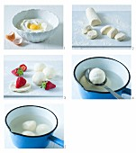 How to make quark dumplings with strawberries