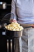 Grilled popcorn