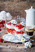 Eton mess with strawberries