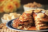 Banana and Walnut Pancakes