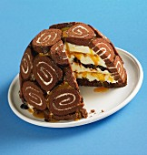 Frozen Swiss Roll cream cake