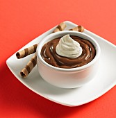 Milk chocolate pudding cup
