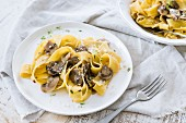 Pappardelle Pasta with Mushrooms