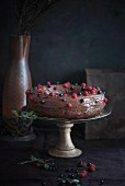 Chocolate and berry cake (vegan)