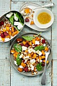 Couscous salad with pumpkin and beetroot