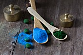Spirulina: Tablets, powders and extracted blue dye (phycocyanin)