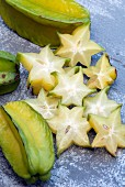 Carambole, sliced star fruit