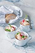 Egg salad with radishes