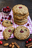 Cranberry gingerbread biscuits