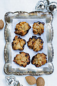 Florentines on silver stand