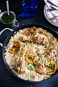 Rice with lemon chicken (Spain)