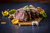 Seared Spiced Lamb with Apricot Sauce