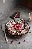 Chocolate and redcurrant cake