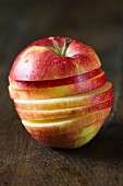 A freshly sliced apple