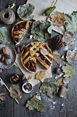 Autumnal pecan tart