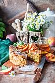 Peach sponge cake