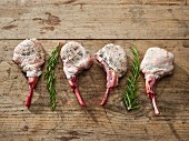 Lamb chops with herbs, ready to cook