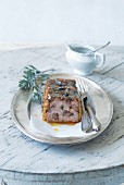 Meat terrine with lavender