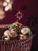 Gebratene Jakobsmuscheln mit Pilzen (weihnachtlich)