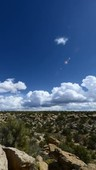 Desert landscape and clouds, time-lapse footage