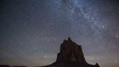 Shiprock Mountain at night, time-lapse footage