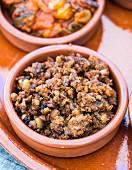 Picadillo de Ciervo, ein traditionelles Hirschfleischgericht aus La Mancha, Spanien