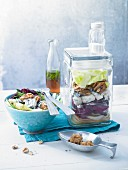 Radicchio salad with blue cheese