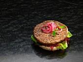 Hamburger mit Brötchen