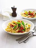 Pea, Semi-Dried Tomato and Bocconcini Pasta