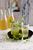 Hessian wild herb punch with woodruff