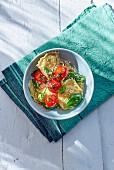 Ravioli with ricotta and vine tomatoes