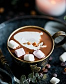 Hot chocolate with Coconut milk and Marshmallows