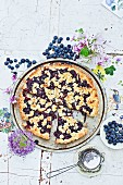 Potato crumble cake with blueberries from the Ruhr Valley