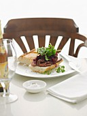Steak Sandwich with Beetroof Relish