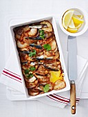 Sardine, Potato and Lemon Bake