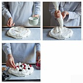 How to make pavlova with berries