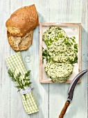 Herb butter and bread