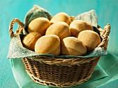 Bread rolls in a bread basket