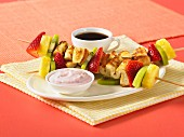 French toast kebabs with fruit
