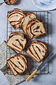 Cinnamon, almond and chocolate babka