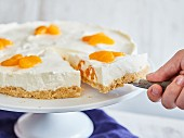 Philadelphia cake with mandarin orange